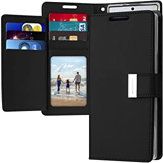 Samsung Galaxy Note 10+ Plus Leather Cover Protection Wallet with Pockets Case, Black