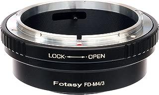 Fotasy Canon FD Lens to Micro 4/3 Adapter, fits Olympus E-PL6 E-PL7 E-PL8 OM-D E-M1 I II E-M1X E-M5 I II III E-PM2 E-PM1 PEN-F/ Panasonic G7 G9 GF6 GF7 GF8 GH4 GH5 GM5 GX7 GX8 GX9 GX85 GX80 GX850