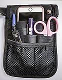 Valencia Med 2 Sided - 9 Pocket Organizer Utility Belt, Black