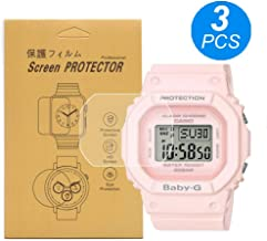 [3-Pcs] for Casio BGD-560 Watch Screen Protector,Full Coverage Screen Protector HD Clear Anti-Bubble and Anti-Scratch BGD-525/BGD-560/BLX-560