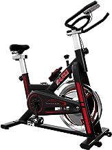 SHUOQI Oefening Fiets Voor Thuis, Indoor Fietsen Spinning Bike, Studio Kwaliteit met Magnetische Weerstand, Grote Bidirect...