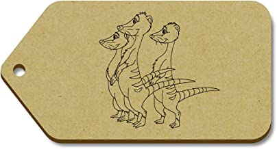Azeeda 10 x Large 'Family of Meerkats' Wooden Gift Tags (TG00057738)