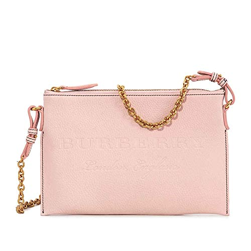 ed6827c863f7 Burberry Leather Clutch Bag- Pale Ash Rose