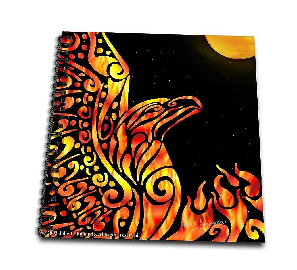 3dRose db_23172_1 Phoenix Fantasy Fire Tribal-Drawing Book, 8 by 8-Inch