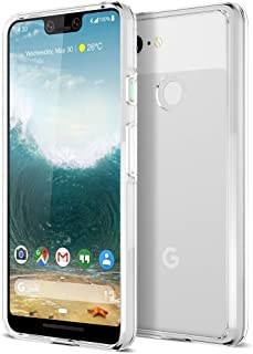 Trianium CLARIUM Series Case for Google Pixel 3 XL (2018) Premium Pixel 3XL Phone Case Clear Cover [Shock Absorption TPU + PC Back] Reinforced Corner Cushion/Scratch Resistant Protection - Clear