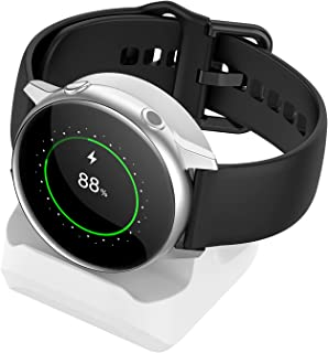 Support Stand for Samsung Galaxy Watch Active 40mm/ Galaxy Watch Active 2, Compact Silicone Stand with Integrated Cable Ma...