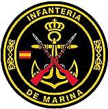 Artimagen Pegatina Círculo Infantería de Marina ø 70 mm.