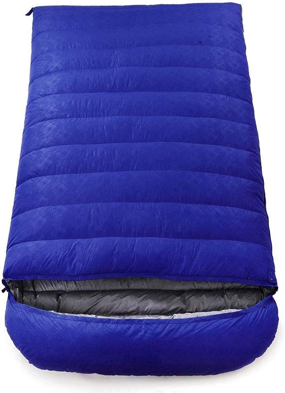 HGJKSH Envelope Sleeping Bag  Adult Double Sleeping Bag for Outdoor Camping  Lightweight, Compact, Waterproof, Comfortable and Warm Sleeping Bag