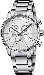 Calvin Klein Men's Exchange K2F27126 Silver Stainless-Steel Swiss Quartz Watch