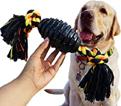 LECHONG Durable Dog Chew Toys for Aggressive Chewer, Combine Ball Rope Dog Toy 13.5 Inch Nearly Indestructible Dog Toy with Convex Design for Puppy Small Medium and Large Dogs