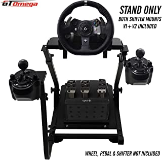 GT Omega Racing Wheel Stand for Logitech G920 Driving Force Gaming Steering Wheel, Pedals & Gear Shifter Mount V2, PS4, Xbox, Ferrari, PC - Foldable, Tilt-Adjustable to Ultimate Sim Racing Experience