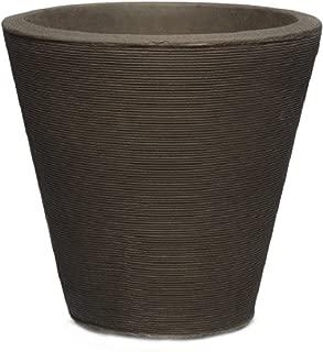 Crescent Garden Indoor/Outdoor Self-Watering Container, 26 in, Old Bronze