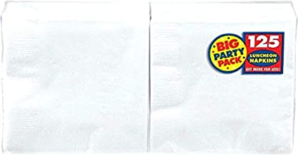 "Amscan Frosty White Big Party Pack Luncheon Napkins, 6.5"" x 6.5"", 125 Ct."