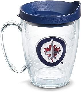 Tervis 1064958 NHL Winnipeg Jets Primary Logo Tumbler with Emblem and Navy Lid 16oz Mug, Clear