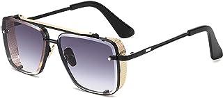XINMAN - Gafas De Sol De Moda Gafas De Sol Cuadradas con Borde De Corte Sin Montura Gafas De Hombre De Moda Gafas De Sol Anti-UV
