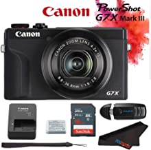 Canon PowerShot G7 X Mark III Digital Camera (Black) + 16GB Memory Card + Memory Card Reader + Pixibytes Microfiber Cleaning Cloth