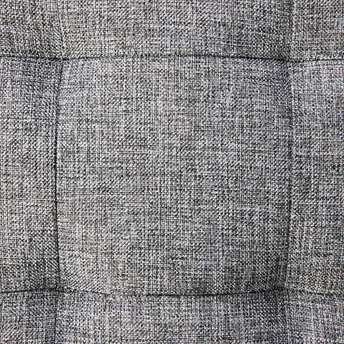 Relaxdays faltbarer Sitzhocker aus Leinen, grau, 38cm - 4