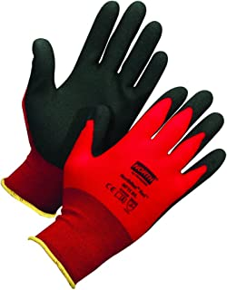 Honeywell Northflex Safety Gloves with Red Seamless Nylon Liner & Black PVC Coating, 15 gauge, X-Large (RWS-57020)