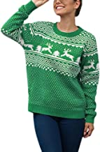 Merry Christmas - Women Sweater Christmas Elk &Tree Long Sleeve O-Neck Xmas Ugly Knitting Pullover Sweaters Tops