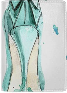 Beautiful Bows and High Heels Blocking Print Passport Holder Cover Case Travel Luggage Passport Wallet Card Holder Made with Leather for Men Women Kids Family