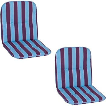 Blue//White Approx beo Chicago NL MS08 Low-Backed Chair Cushion with Piping for Low-Backed Chair 47 x 96 cm 5 cm Thick