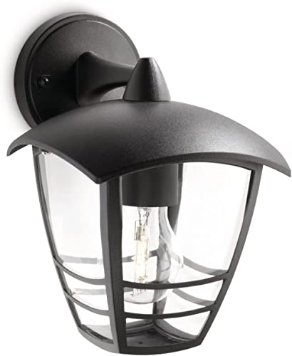 Philips 153813016 Creek Lanterne Murale Aluminium Noir 1 x 60 W