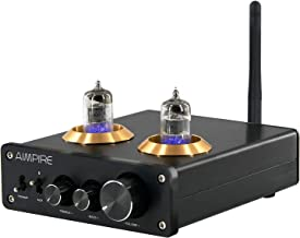 Audio 6J1 Vacuum Tube Preamp - Bluetooth 5.0 Pre Amp Mini 2 Tubes Preamplifier NE5532P Chips Bile Preamp Buffer with Treble & Bass Adjustment for Home Theater Speaker HiFi System