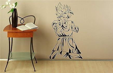 Stickers Muraux Basketball Son Goku Sticker Manga Anime Vinyle Autocollant  Japonais Home Intérieur Chambre Décor Art