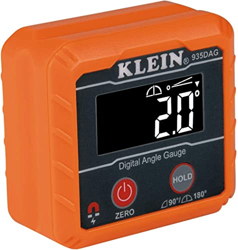 Klein Tools 935DAG Digital Electronic Level and Angle Gauge, Measures 0 - 90 and 0 - 180 Degree Ranges, Measures and ...