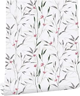 HaokHome 93011 Peel and Stick Victoria Floral Wallpaper Wall Murals 17.7