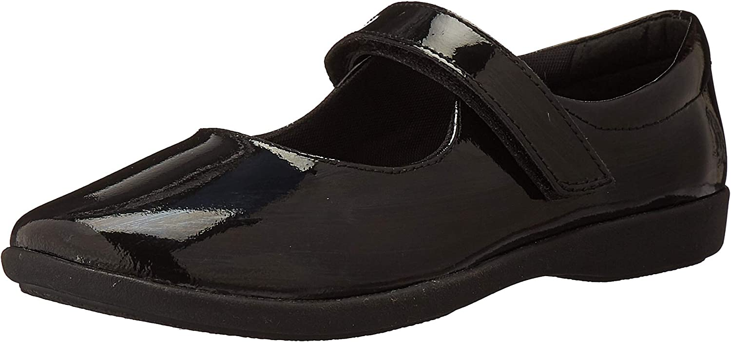 Safety and trust Hush Puppies unisex child Lexi Mary 3 Jane W Flat Patent 2021 model Black