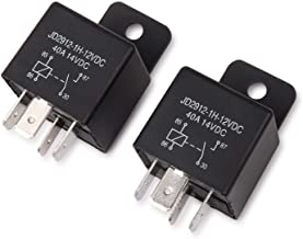 Best EHDIS Car Relay 4 Pin 12v 40amp Spst Model No.: JD2912-1H-12VDC 40A 14VDC, Auto Switches & Starters,Pack of 2 Review