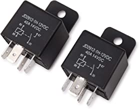 Ehdis Car Relay 4 Pin 12v 40amp Spst Model No.: JD2912-1H-12VDC 40A 14VDC, Auto Switches & Starters, 2 Pack
