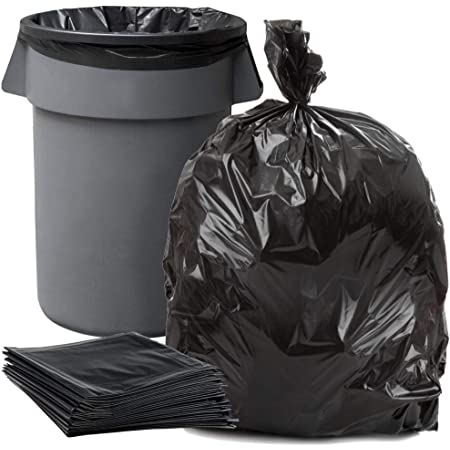 """50 Large 55 Gallon 38X55/"""" Bigger Trash Can Bags Heavy Duty garbage Liner 1.5 Mil"""