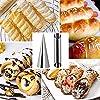 Queta 21PCS Stampi per Cannoli,Stainless Steel Cream Roll Mold, Tubo Dritto & Affusolato Cannoli Form Tubi per Croissant Stampo per Corno Con Spazzola per La Pulizia #5