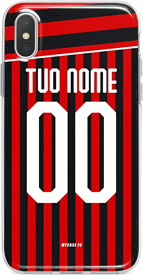 MYCASEFC Custodia AC Milan Milano Cover Personalizzabile in ...