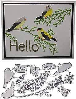 DIY Cutting Dies,Exquisite Gift for Making Paper Card,Metal Bird Flower Die Cut Stencil Template for DIY Scrapbook Photo Album Embossing Craft School House Home Wedding Decor (I)