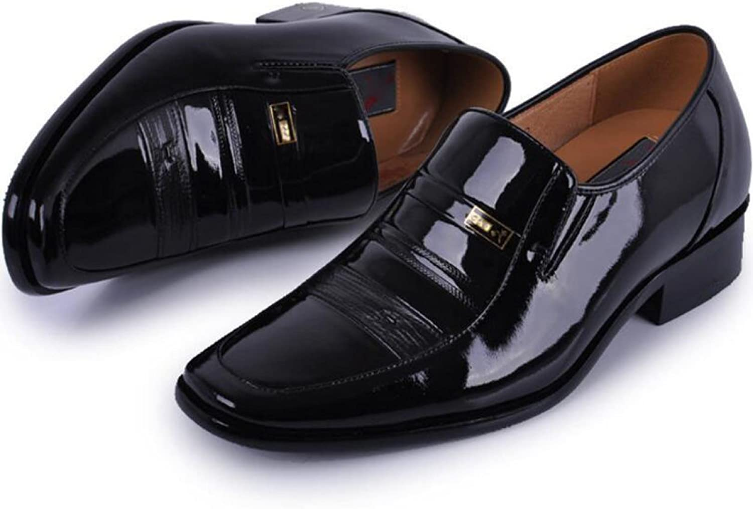 Within The Increase shoes Men Pointed Leather Paint Light Increased 5CM Male shoes