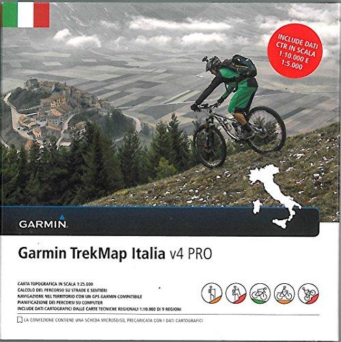 TrekMap Italia v4Pro Italia, scheda micro-SD con mappe vettoriali topografiche 2016