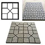 Agyvvt Path Maker Mould Paving DIY Lawn Concrete Paving Garden Path Molds 15.75inch x 15.75 inch (Style H)