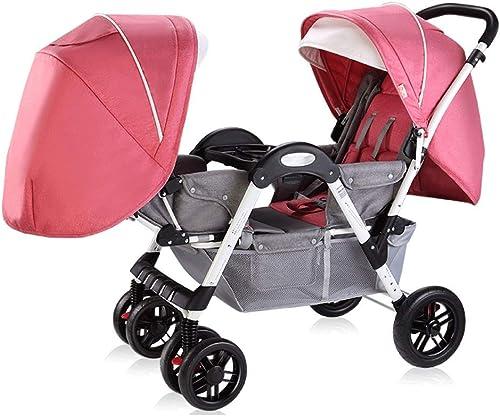 lo último Carro Carro Carro de bebe Cochecito de bebé Puede Sentarse Mentira Desmontable Ligero Plegable Doble Cochecito de bebé (Color   B)  tienda en linea