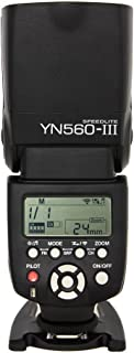 Yongnuo YN560 III - Flash con Zapata (ángulo de Giro 0-270 Grados 8 Niveles de Control de Salida 29 Niveles de Ajuste Fino) Negro
