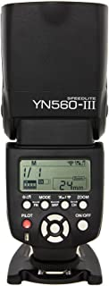 Yongnuo YN560 III - Flash con Zapata (ángulo de Giro 0-270 Grados, 8 Niveles de Control de Salida, 29 Niveles de Ajuste Fino), Negro