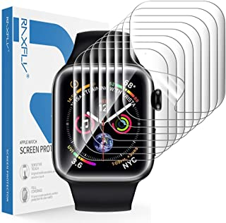 RAXFLY [8 Pack] Screen Protector Compatible with Apple Watch SE Series 6/5/4 44mm and Apple Watch 3/2/1 42mm Soft TPU Full Coverage Screen Protector