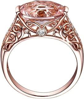 Balakie Luxury Ring Gemstone Rose Gold Diamond Hollow Design Fashion Wedding Ring
