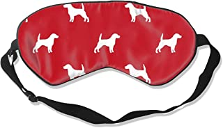 Beagle Pet A Dog Breed Coordinate Silhouette Silk Sleep Mask Comfortable Blindfold Eye mask Adjustable for Men, Women or Kids