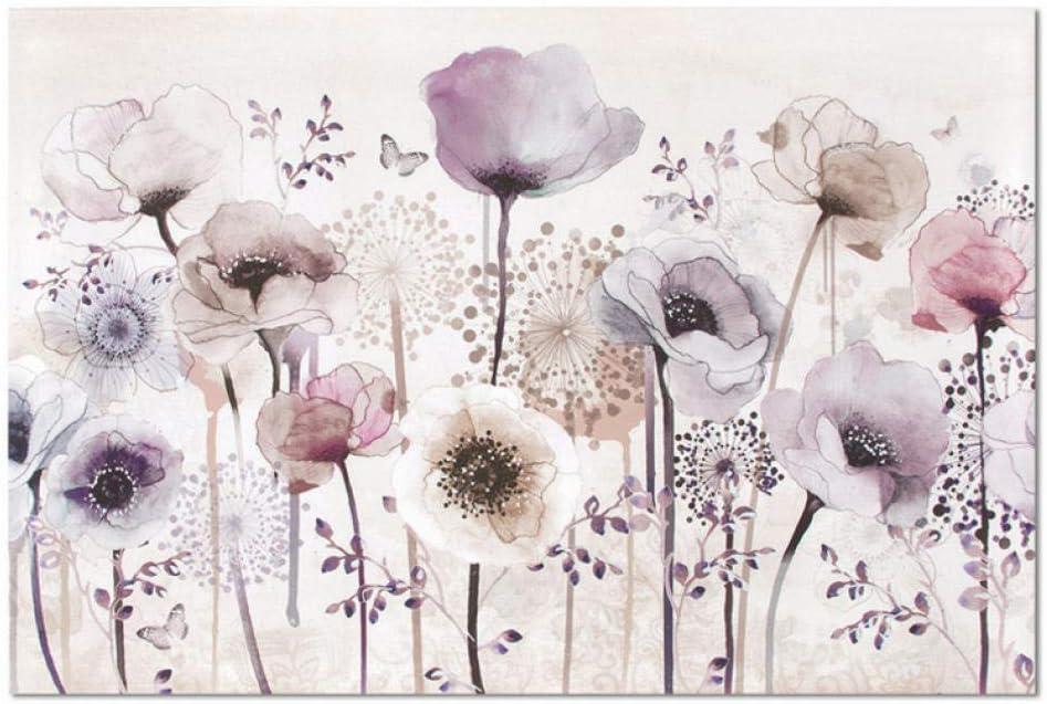 3D Abstract Bombing free shipping Purple Flower Butterfly Mural Dec Wall Art 55% OFF Wallpaper