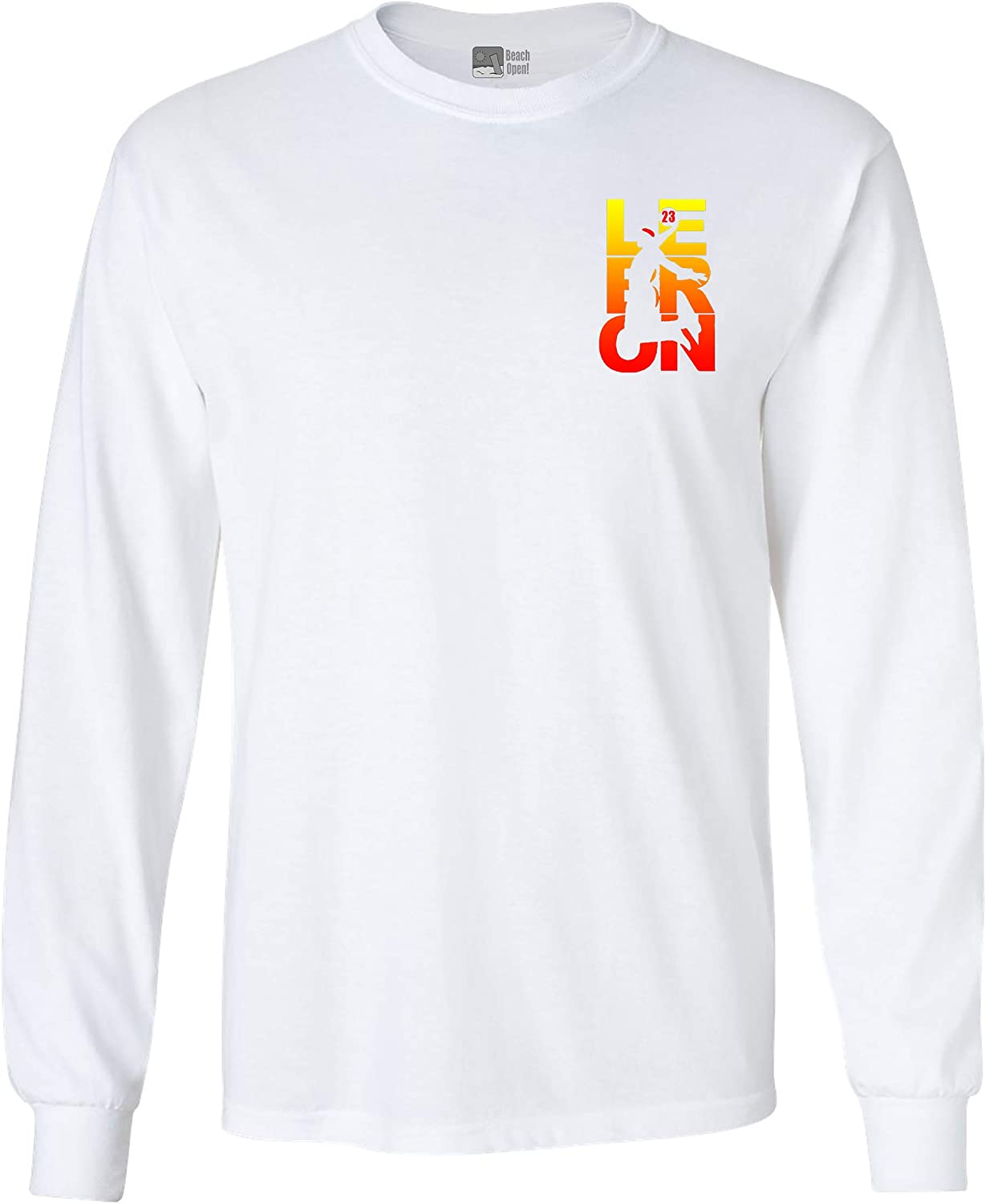Long Sleeve Adult T-Shirt Jacksonville Mall New Lebron Fan Cleveland an Wear Front Genuine Free Shipping
