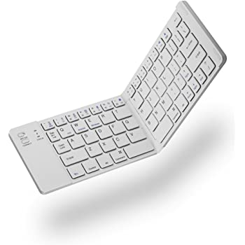 QYLLXSYY New Tri-fold Wireless Bluetooth Keyboard Folding Touch Pad Bluetooth Keyboard Black Keyboard