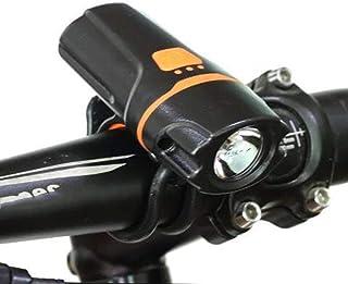 QIAO Luces para Bicicleta LED Impermeable, Power Bank 1200mAh Luces Bicicleta Delantera Recargable USB, Super Lluminación ...